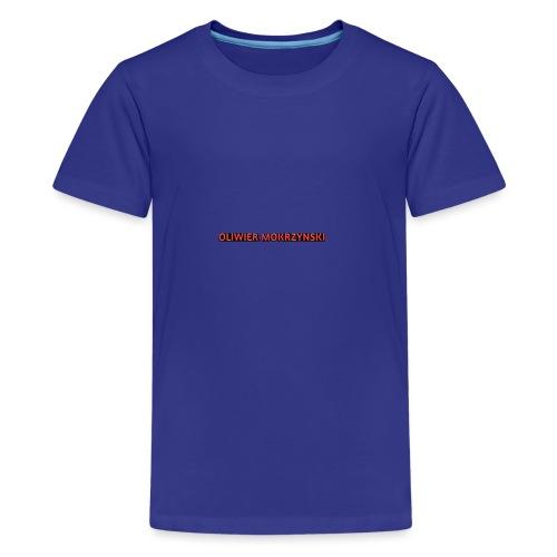 Red Oliwier Mokrzynski logo - Teenage Premium T-Shirt