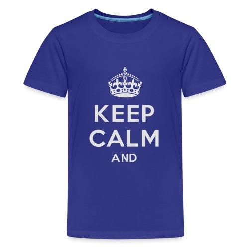 keep calm and clean - Teenager premium T-shirt