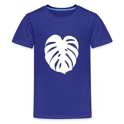 Monstera - Feuille blanche - T-shirt Premium Ado