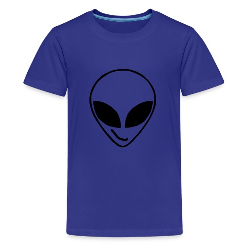Alien simple Mask - Teenage Premium T-Shirt