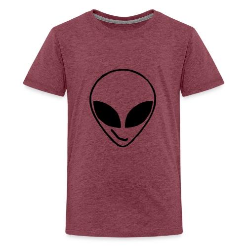 Alien simple Mask - Teenage Premium T-Shirt