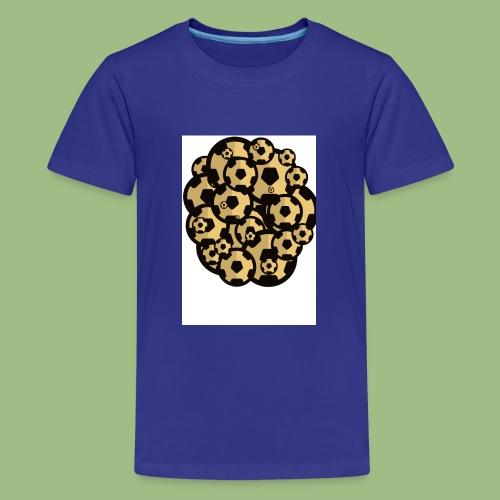 Fotball of footballs - Premium-T-shirt tonåring