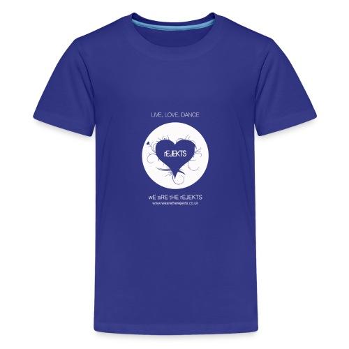 Live Love Dance White - Teenage Premium T-Shirt