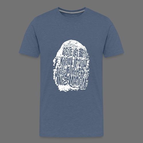 Fingerprint DNA (white) - Teenage Premium T-Shirt