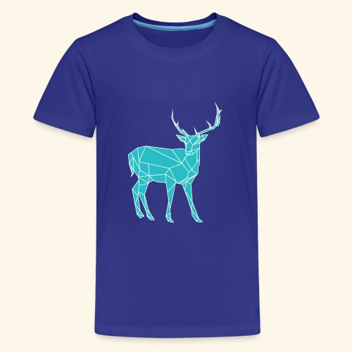 Blue Reindeer - Teenage Premium T-Shirt