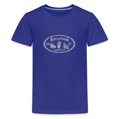 Motorradfreunde silber - Teenager Premium T-Shirt