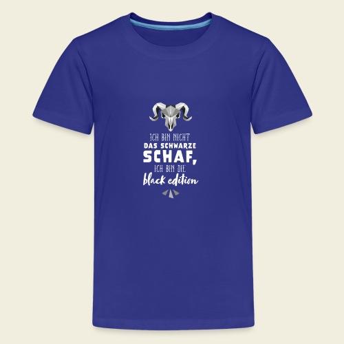 Schwarzes Schaf - black edition - Teenager Premium T-Shirt