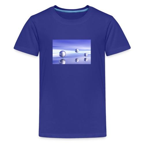 Schwebende Kugeln (3D Landschaft) - Teenager Premium T-Shirt