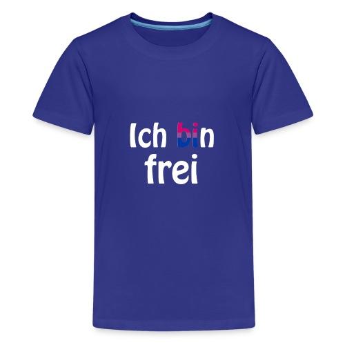 Ich bin frei - bisexuell - LGBT - Liebe - Freiheit - Teenager Premium T-Shirt