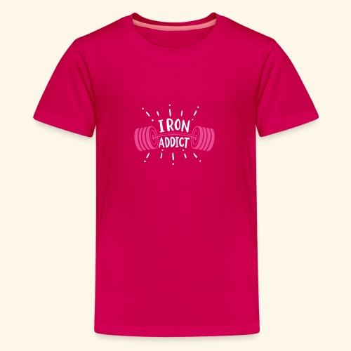 VSK Lustiges GYM Shirt Iron Addict - Teenager Premium T-Shirt