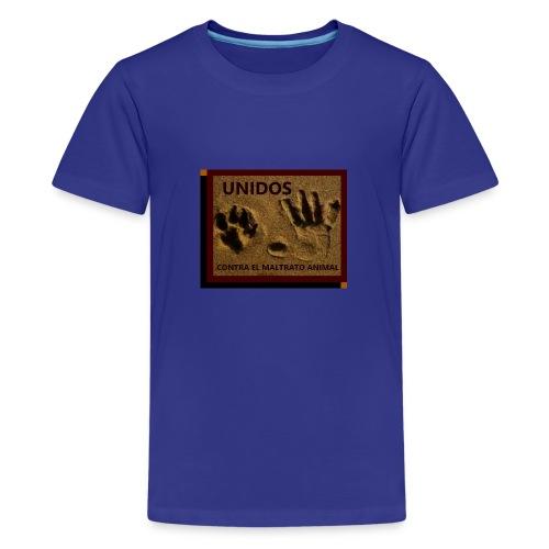 NO AL MALTRATO ANIMAL - Camiseta premium adolescente