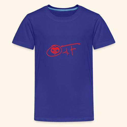 O4F ROSSO - Maglietta Premium per ragazzi
