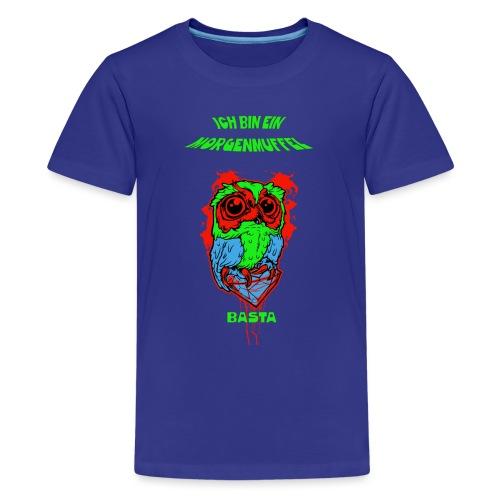 Morgenmuffel Eulenmotiv - Teenager Premium T-Shirt
