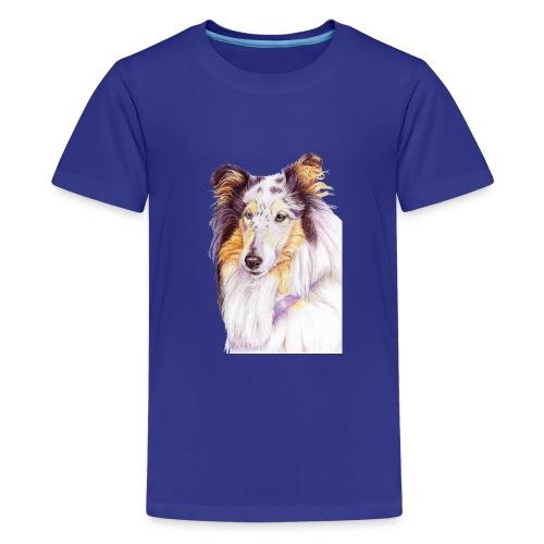 Collie bluemerle - Teenager premium T-shirt