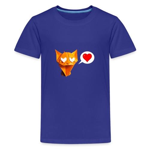 Adorable Cat Origami - Cat - Gato - Gatto - Katze - Teenage Premium T-Shirt