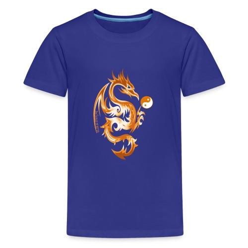 Der Drache spielt mit der Energie des Lebens. - Teenager Premium T-Shirt