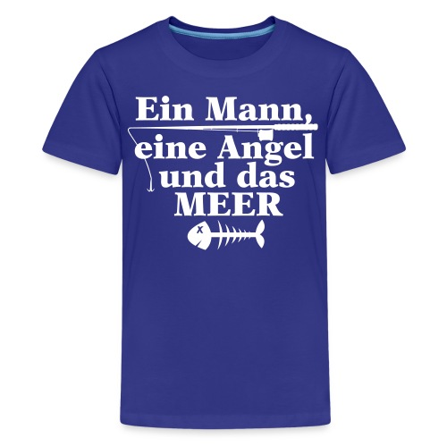 ein mann eine angel und das meer - Teenager Premium T-Shirt