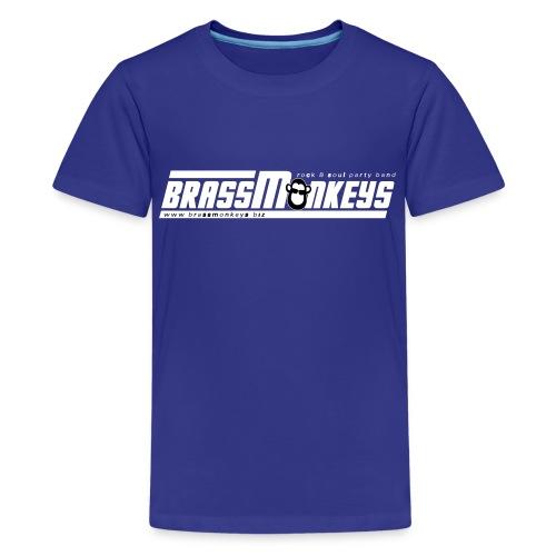 logo_White_with Monkey - Teenage Premium T-Shirt