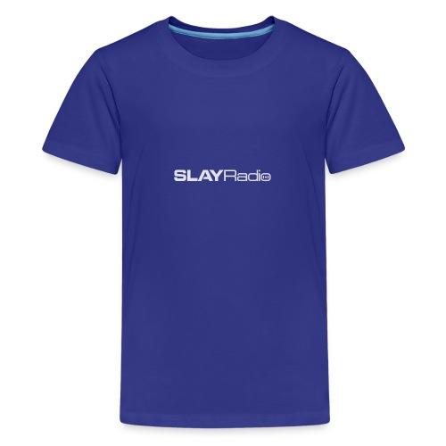 SLAYRadio alt white - Teenage Premium T-Shirt