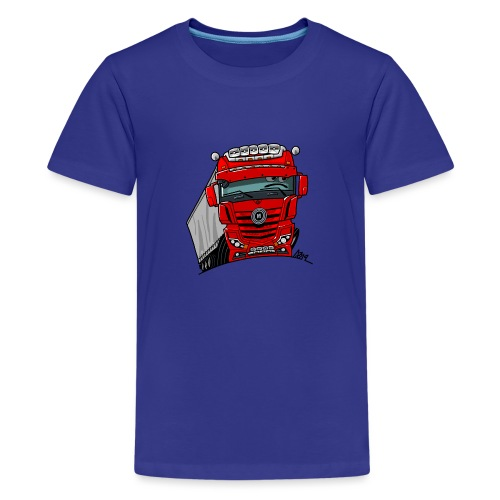0807 M truck rood trailer - Teenager Premium T-shirt