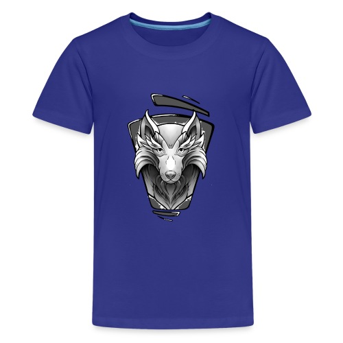 Wolf Tattoo Design - Teenager Premium T-Shirt