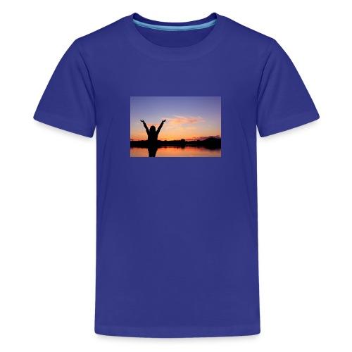 Praise, Vrijheid, Zonsondergang Pruduct - Teenager Premium T-shirt
