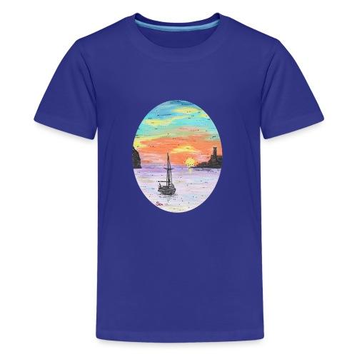 Port de Sollers Sonnenuntergang - Teenager Premium T-Shirt