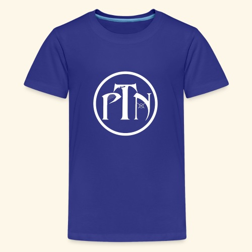 PTN-Music Logo Weiss - Teenager Premium T-Shirt