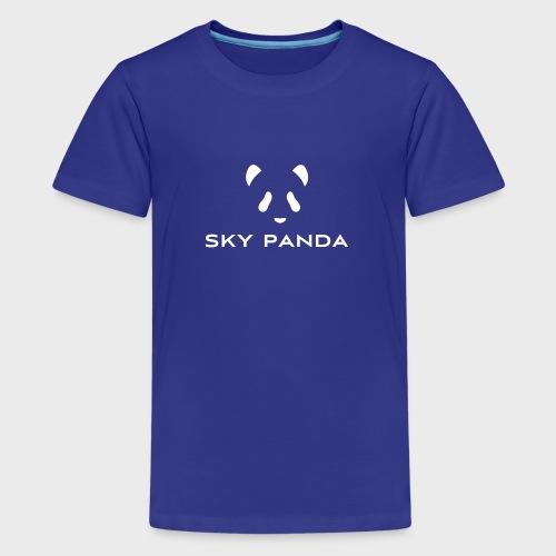Sky Panda White - Teenager Premium T-Shirt