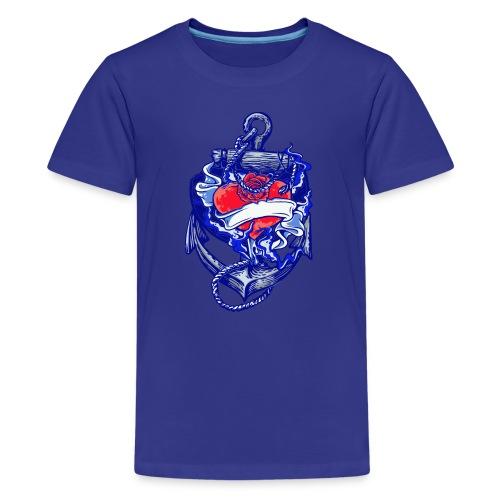 Seemanns Look Ankerherz - Teenager Premium T-Shirt