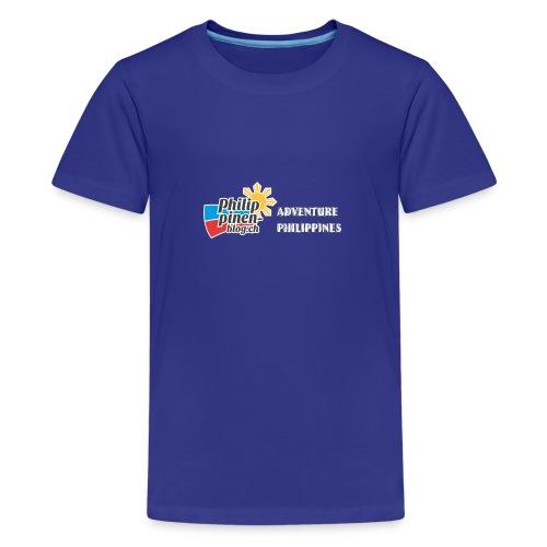 Philippinen-Blog Logo english schwarz/weiss - Teenager Premium T-Shirt