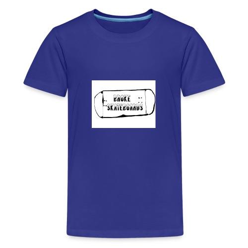 broke skateboards - Premium T-skjorte for tenåringer