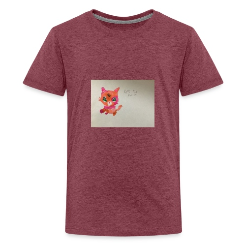 Little pet shop fox cat - Teenage Premium T-Shirt