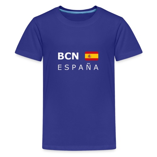 BCN ESPAÑA white-lettered 400 dpi - Teenage Premium T-Shirt