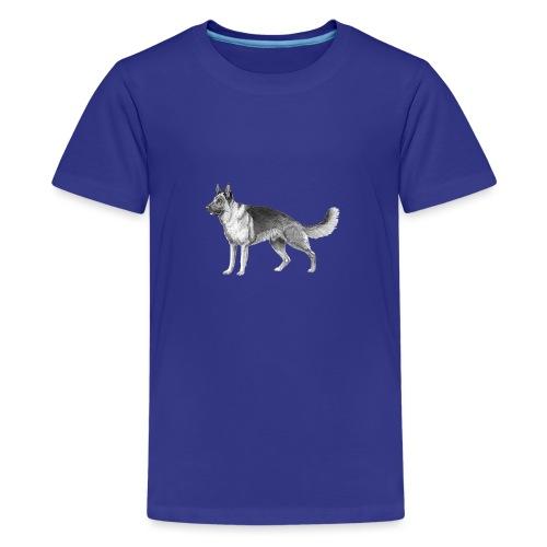 German shepherd schæfer ink - Teenager premium T-shirt