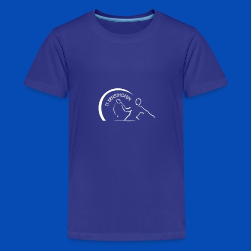 TTE Logo Weiss - Teenager Premium T-Shirt