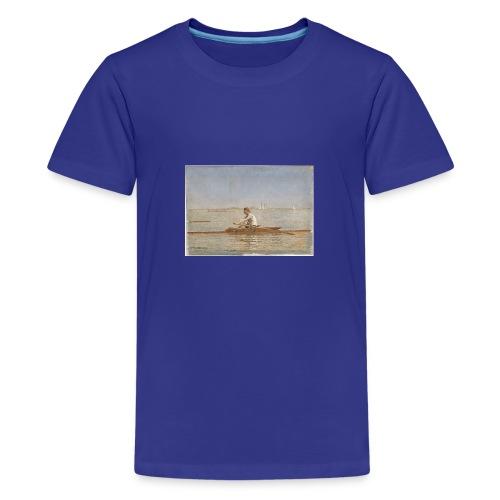 John Biglin in a Single Scull - Thomas Eakins - T-shirt Premium Ado