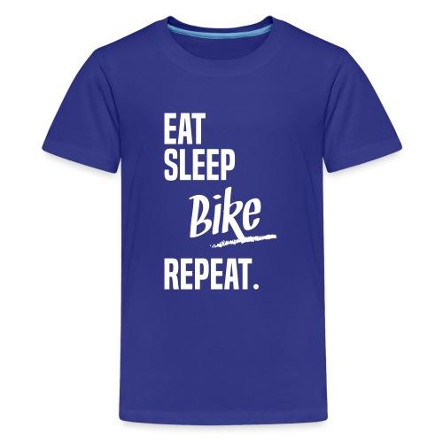 EAT SLEEP BIKE - T-shirt Premium Ado