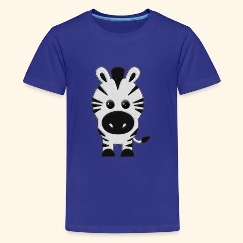 Cebra de peluche - Camiseta premium adolescente