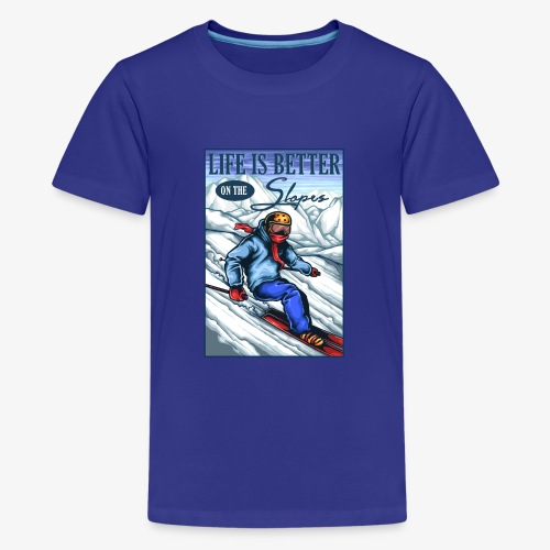 Ski Life - T-shirt Premium Ado