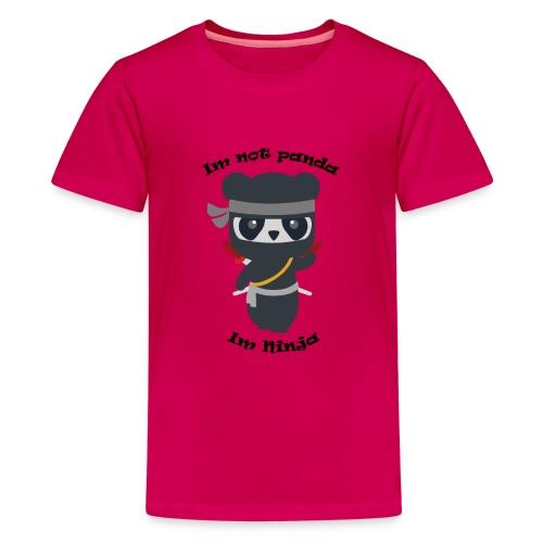 Non sono un Panda - Maglietta Premium per ragazzi