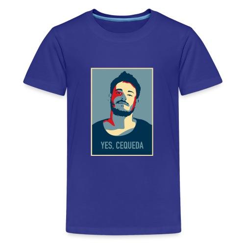 YES, CEQUEDA - Camiseta premium adolescente