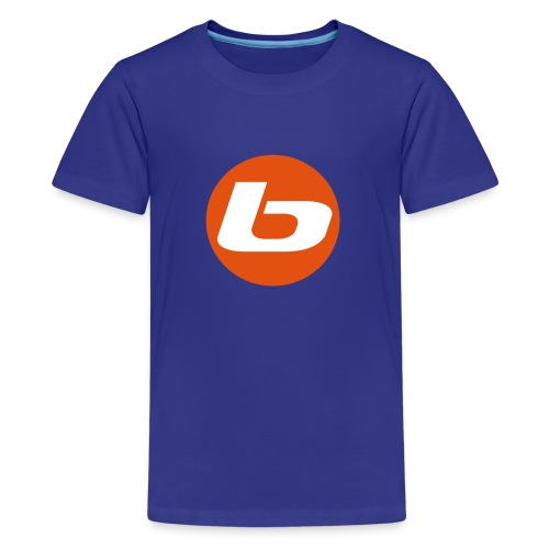 B LOGO two colour - Teenage Premium T-Shirt
