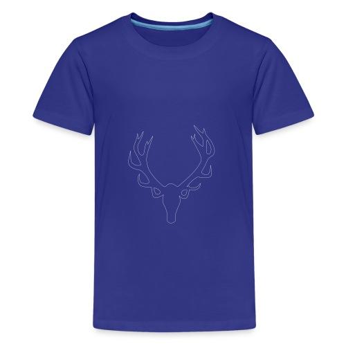 männershirt mit aufdruck,geweih,lustig,blau - Teenager Premium T-Shirt
