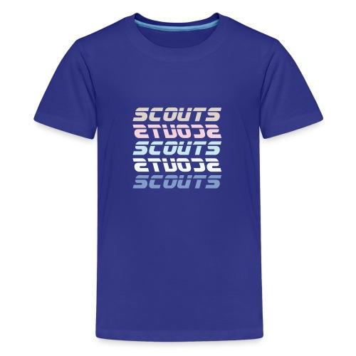 SCOUTS Retro Typo Pastell Mix - Teenager Premium T-Shirt