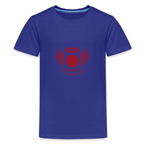 LogosVolleyBall MonochromeRouge - T-shirt Premium Ado