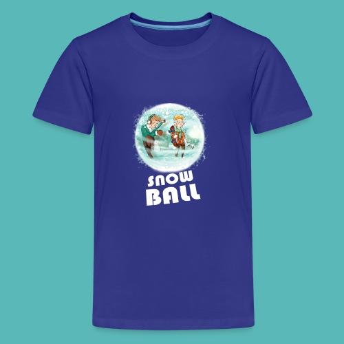 snow ball - Camiseta premium adolescente