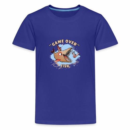 10-37 GAME OVER FISH - Peli on pelattu kala - Teinien premium t-paita