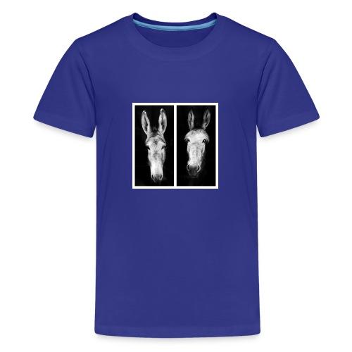 Eselköpfe-Esel - Teenager Premium T-Shirt