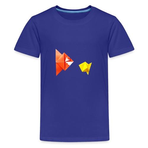 Origami Piranha and Fish - Fish - Pesce - Peixe - Teenage Premium T-Shirt